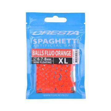 Cresta Spaghetti Balls XL fluo orange imitatie visaas 6mm-7mm-8mm