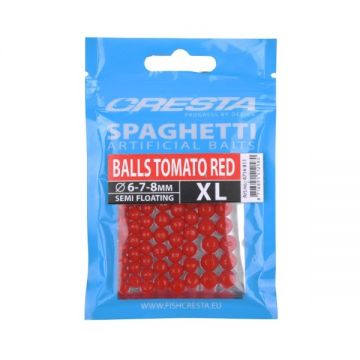 Cresta Spaghetti Balls XL tomato red imitatie visaas 6mm-7mm-8mm