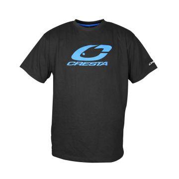 Cresta T-Shirt zwart - blauw vis t-shirt Large