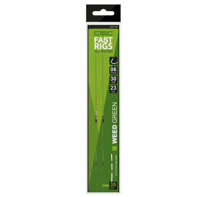 Cteccarp C-Tec Fast Rigs weedy green karper karper onderlijn H8