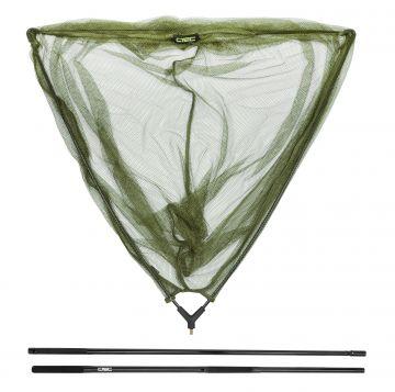 Cteccarp Net Glass Handle (2 sec.) Combo zwart - groen karper visschepnet 1m80