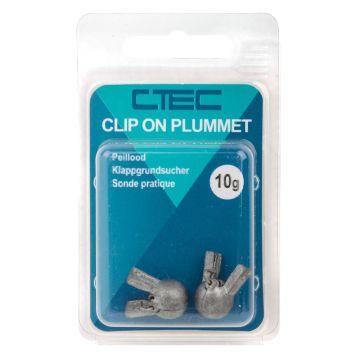 Cteccoarse Clip On Plummets zilver vislood 20g