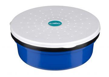 Cteccoarse Maggot Maze Box zwart - blauw - wit madendoos 0.25l
