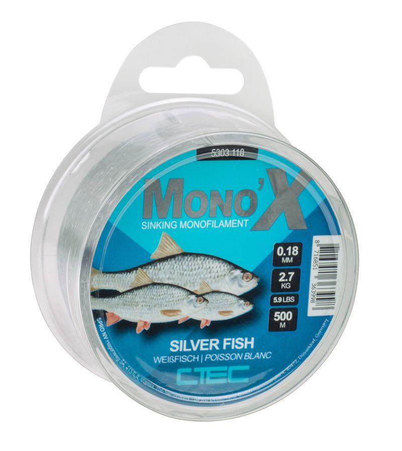Cteccoarse Silverfish grijs visdraad 0.16mm 500m 2.5kg