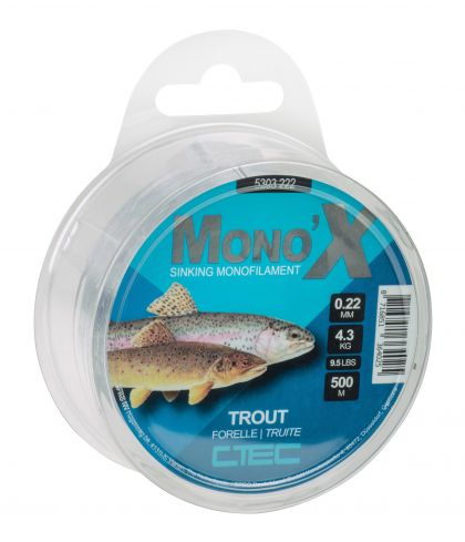 Cteccoarse Trout clear visdraad 0.22mm 500m 4.3kg
