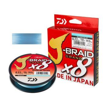 Daiwa J-Braid Grand X8 island blue gevlochten visdraad 0.18mm 135m