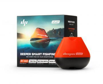 Deeper Fishfinder START zwart - rood dieptemeter
