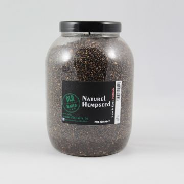 Dlrbaits Naturel Hempseed zwart - wit partikel 3l
