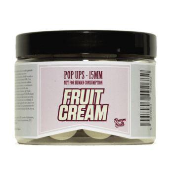 Dreambaits Fluo Fruit Cream wiit - geel karper pop-up boilies 15mm