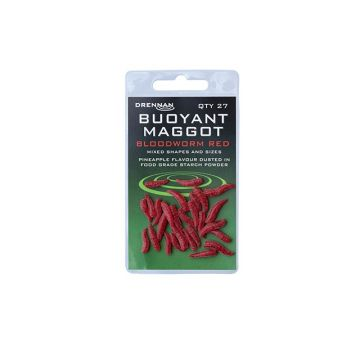 Drennan Buoyant Maggots rood imitatie visaas