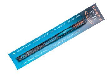 Drennan Carp 5 Pole Rigs Bandit zwart - groen - clear kant & klare vislijn 0.40g 0.15mm H18