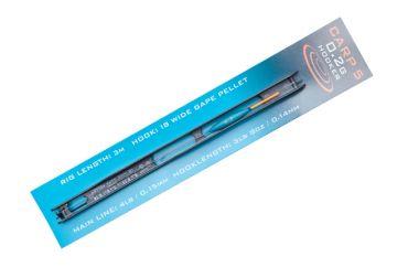 Drennan Carp 5 Pole Rigs Hooker zwart - groen - clear kant & klare vislijn 0.80g 0.16mm H16