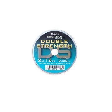 Drennan Double Strength clear visdraad 0.128mm 50m 2lb 12oz