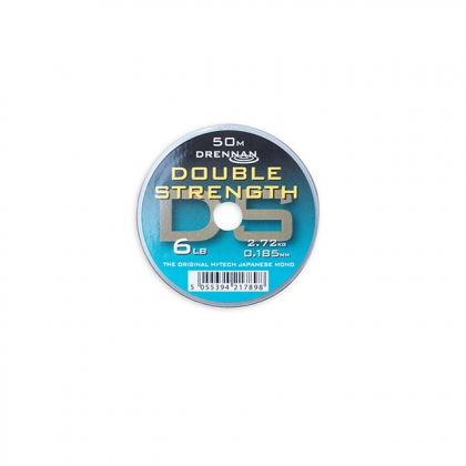 Drennan Double Strength clear visdraad 0.185mm 50m 6lb