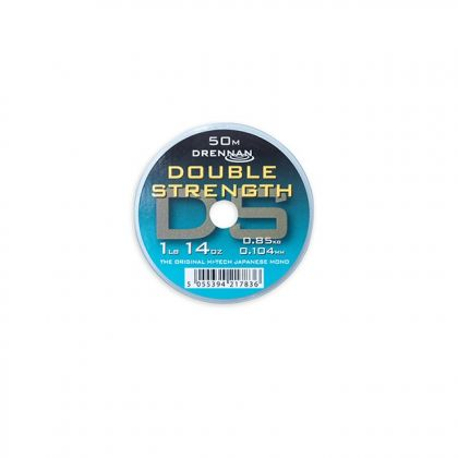Drennan Double Strength clear visdraad 0.104mm 50m 1lb 14oz