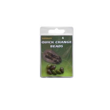 Drennan Quick Change Beads groen - bruin klein vismateriaal Small