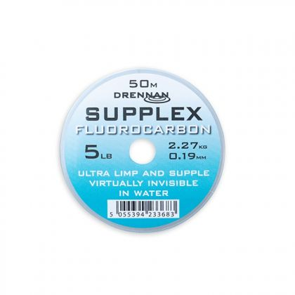 Drennan Supplex Fluorocarbon clear visdraad 0.19mm 50m 5.00lb
