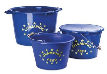 Voeremmer Champion Feed blauw - geel visemmer 17l