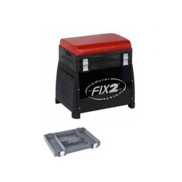 Fix2 3510CB zwart - rood witvis visbak