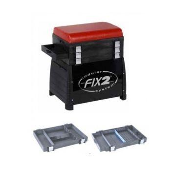 Fix2 3510CBL zwart - rood witvis visbak