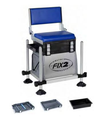 Fix2 3550CALR-26 Hybride zwart - grijs - blauw witvis visbak