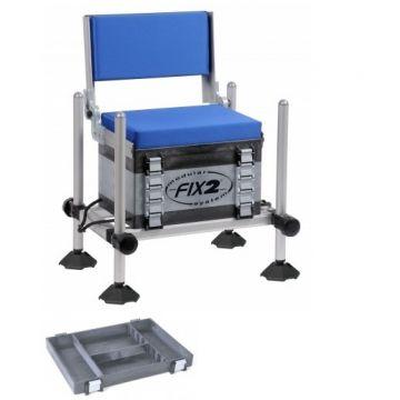 Fix2 FCS5R-26 zwart - grijs - blauw witvis visbak
