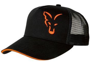 Fox Trucker Cap zwart - oranje pet Uni