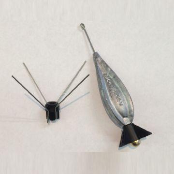 Fonderiaroma Nuvola Jet Spike zilver zeevis vislood 175g