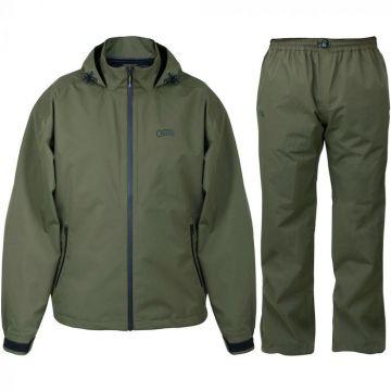 Fox Aquos Rainsuit zwart - groen visjas Large