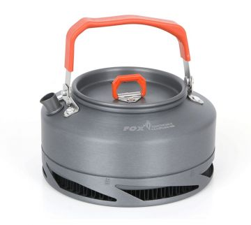 Fox Cookware Heat Transfer Kettle grijs - oranje 0.9l