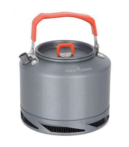 Fox Cookware Heat Transfer Kettle grijs - oranje 1.5l