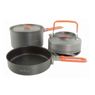 Fox Cookware Set 3-Delig gris - orange