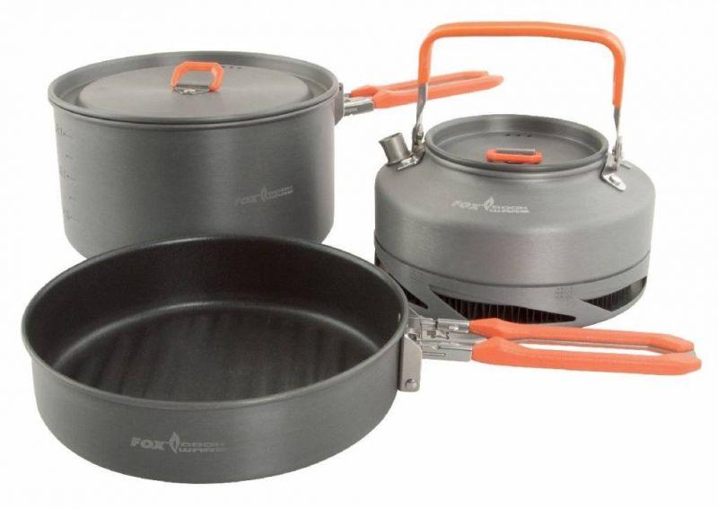 Fox Cookware Set 3-Delig grijs - oranje