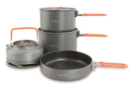 Fox Cookware Set 4-Delig gris - orange