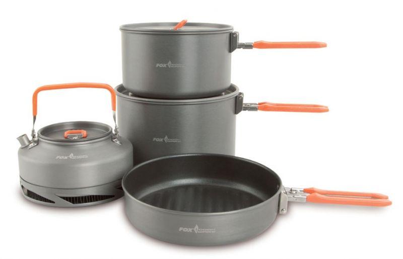 Fox Cookware Set 4-Delig grijs - oranje