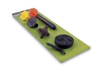 Fox Dart Marker Float Kit geel - rood - zwart karper marker & spod