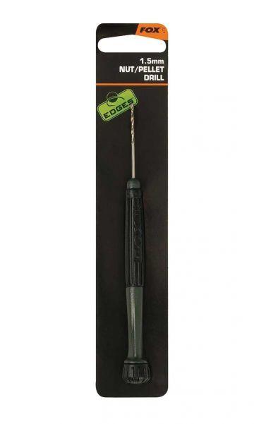 Fox Edges Nut Drill 1,5mm zwart - zilver karper rig accessoire