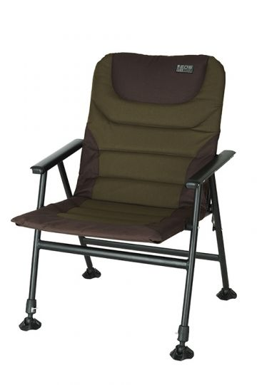 Fox Eos 1 Chair zwart - groen visstoel karperstoel