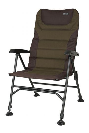 Fox Eos 2 Chair zwart - groen visstoel karperstoel