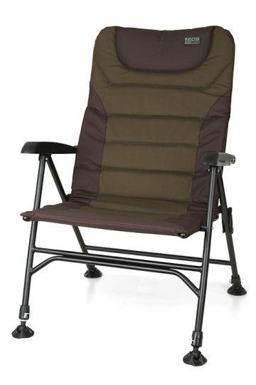 Fox Eos 3 Chair zwart - groen visstoel karperstoel