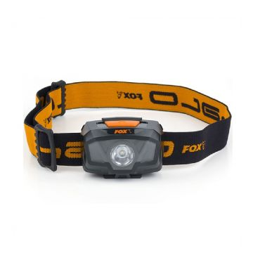 Fox Halo 200 Headtorch zwart - oranje lamp