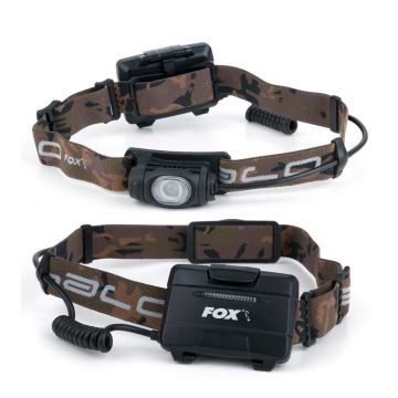 Fox Halo AL320 Headtorch zwart - bruin lamp