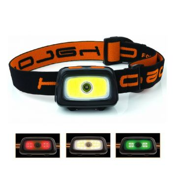 Fox Halo Multi-Colour Headtorch zwart - oranje lamp