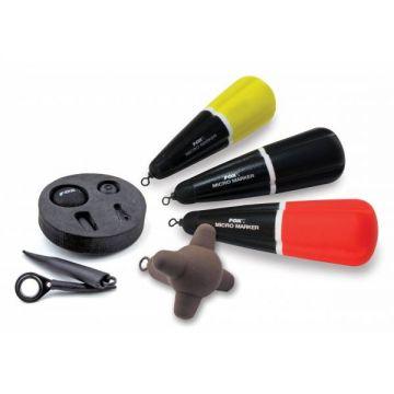 Fox Micro Marker Kit geel - rood - zwart karper marker & spod