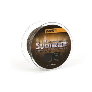 Fox Submerge Sinking Braided Mainline dark camo gevlochten visdraad 0.16mm 600m