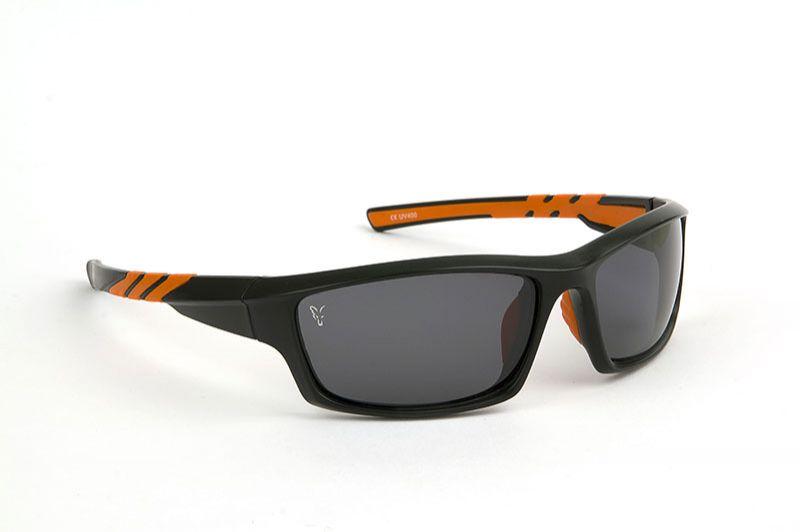 Fox Sunglasses grijs - zwart - oranje viszonnenbril