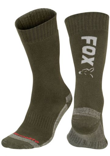 Fox Thermolite Long Socks groen - zilver kous M40-m43