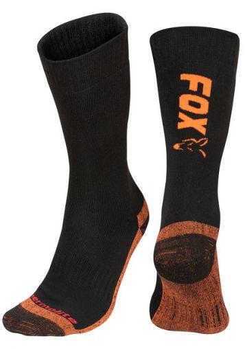 Fox Thermolite Long Socks zwart - oranje kous M40-m43