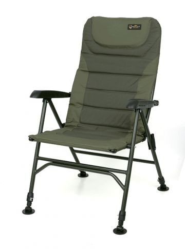 Fox Warrior 2 Arm Chair zwart - groen visstoel karperstoel