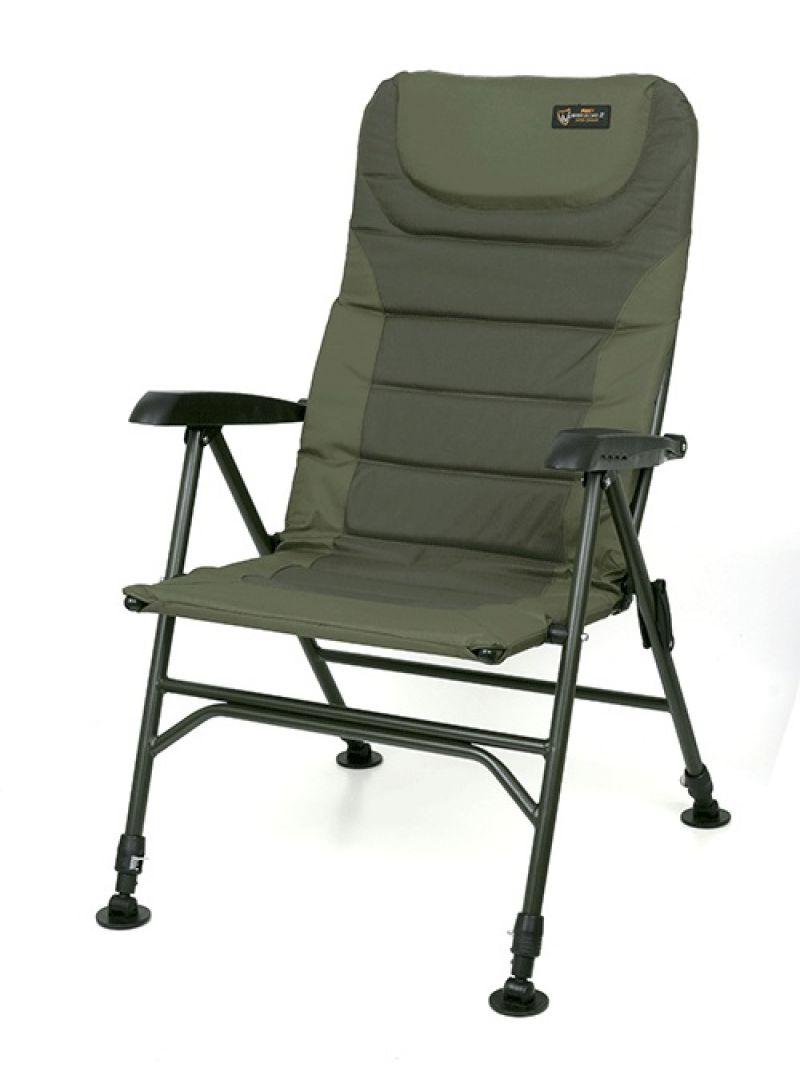 Fox Warrior 2 XL Arm Chair zwart - groen visstoel karperstoel